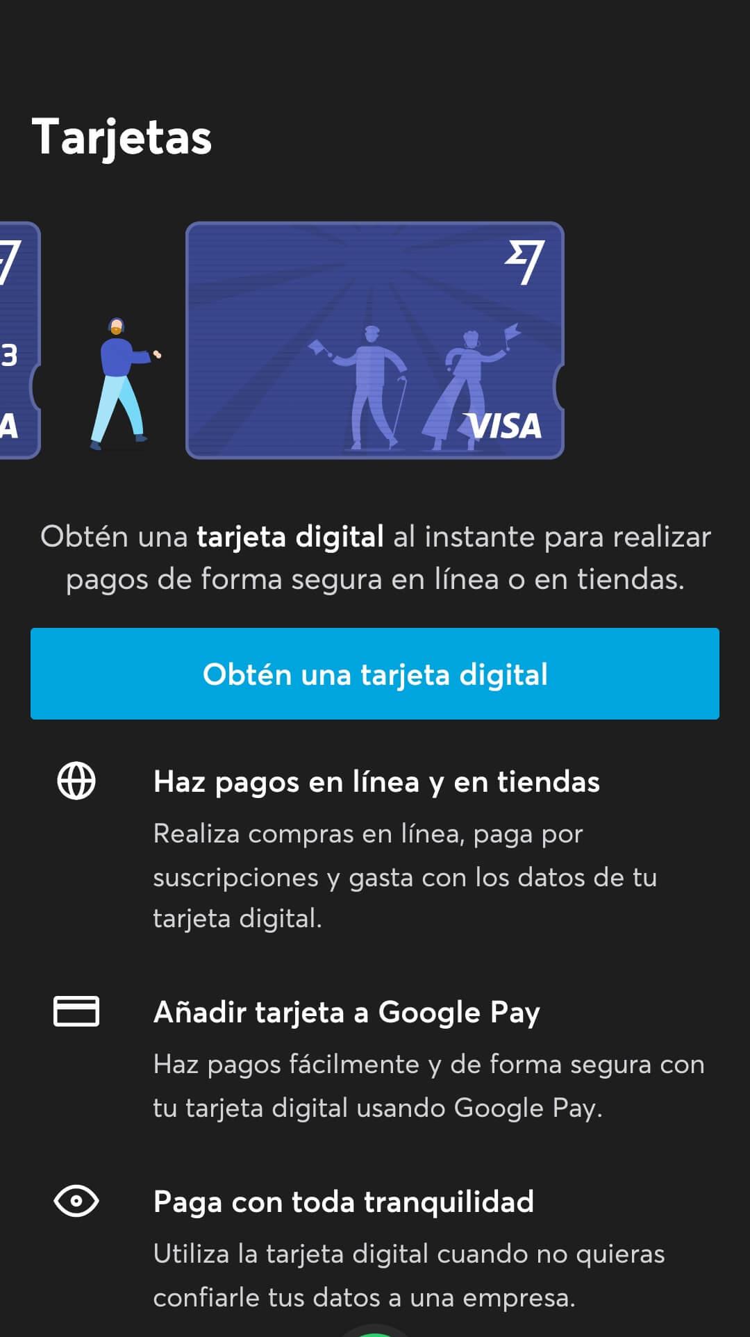 transferwise tarjeta digital en movil
